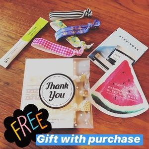 Free gift with purchase